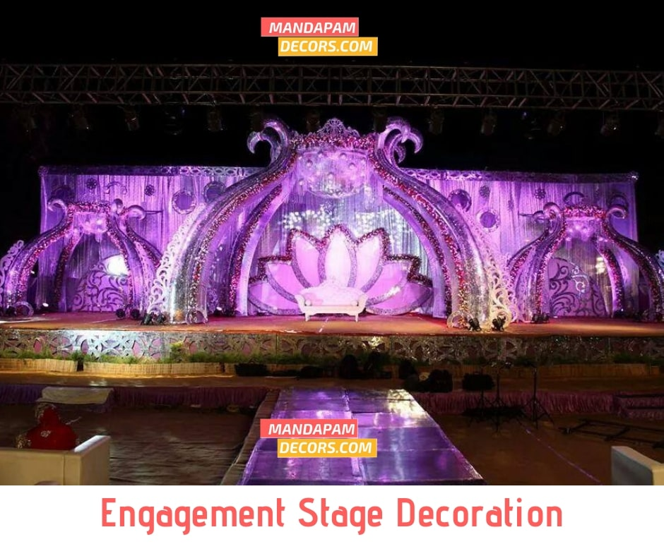 engagement stage decoration hyderabad