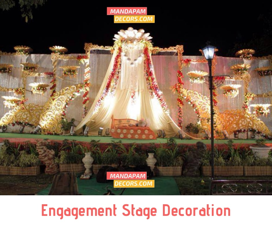 engagement stage decoration