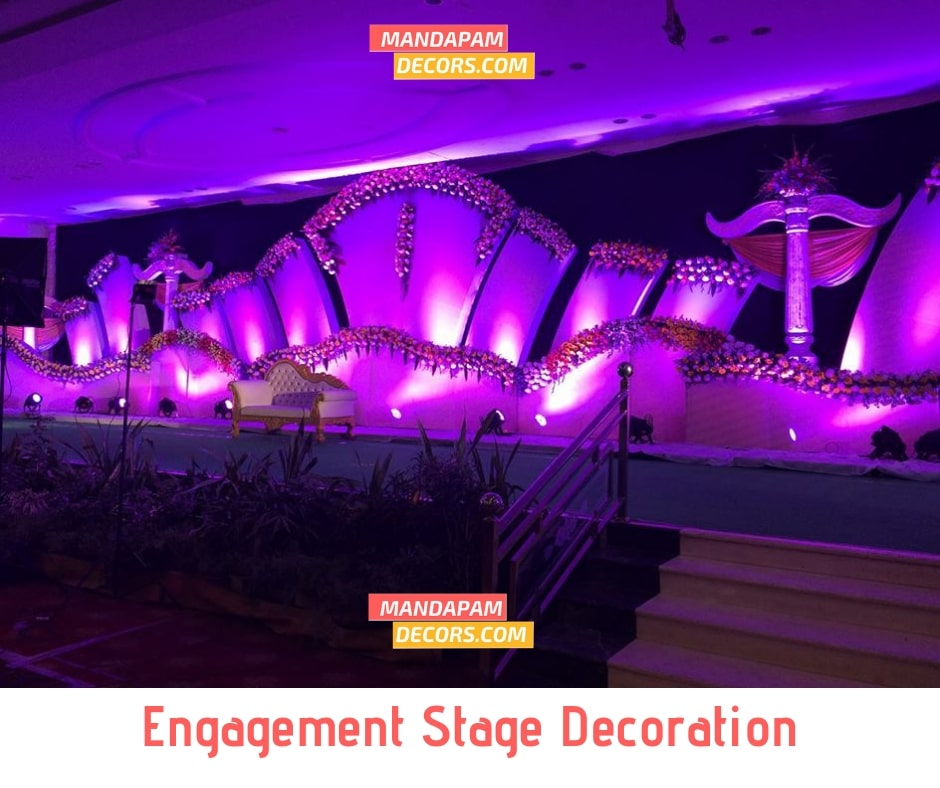 simple stage decoration for reception